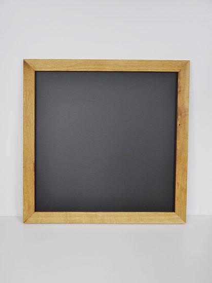 Tablica kredowa w dębowej ramie - kwadrat