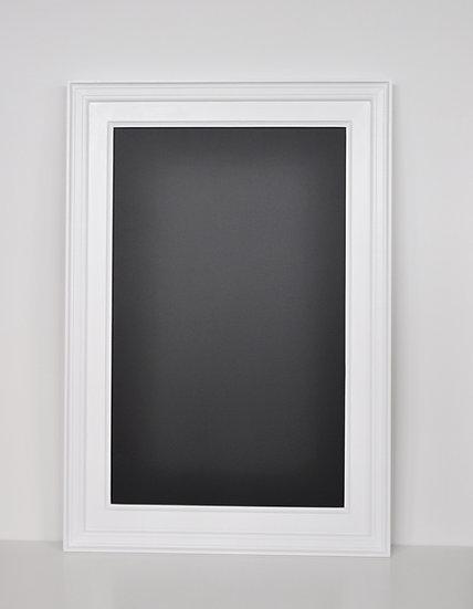 Tablica magnetyczno kredowa w ramie obrazowej biała