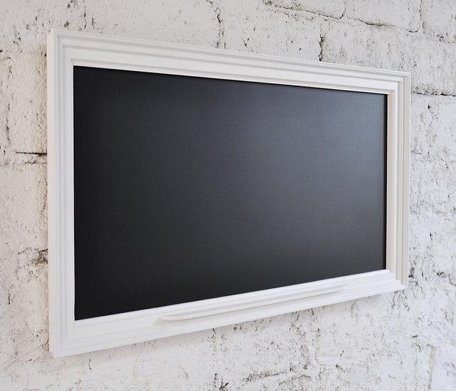 Tablica magnetyczno-kredowa w ramie obrazowej