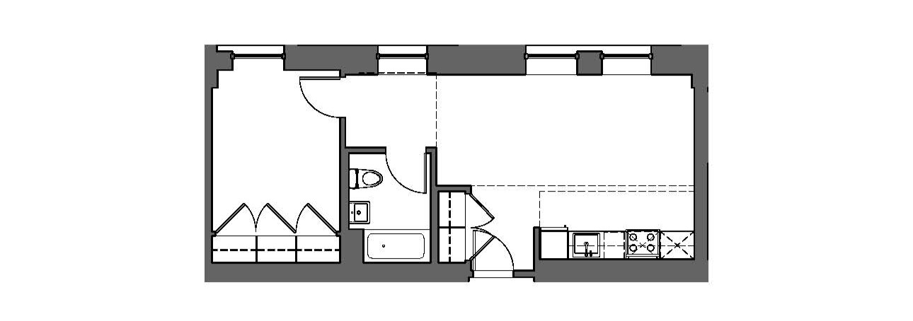 One Bedroom, Long Layout