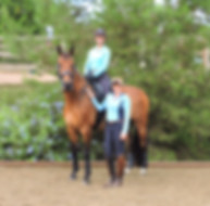 Ashley Donadt riding with her coach and mentor, Elizabeth (Beth) Ball