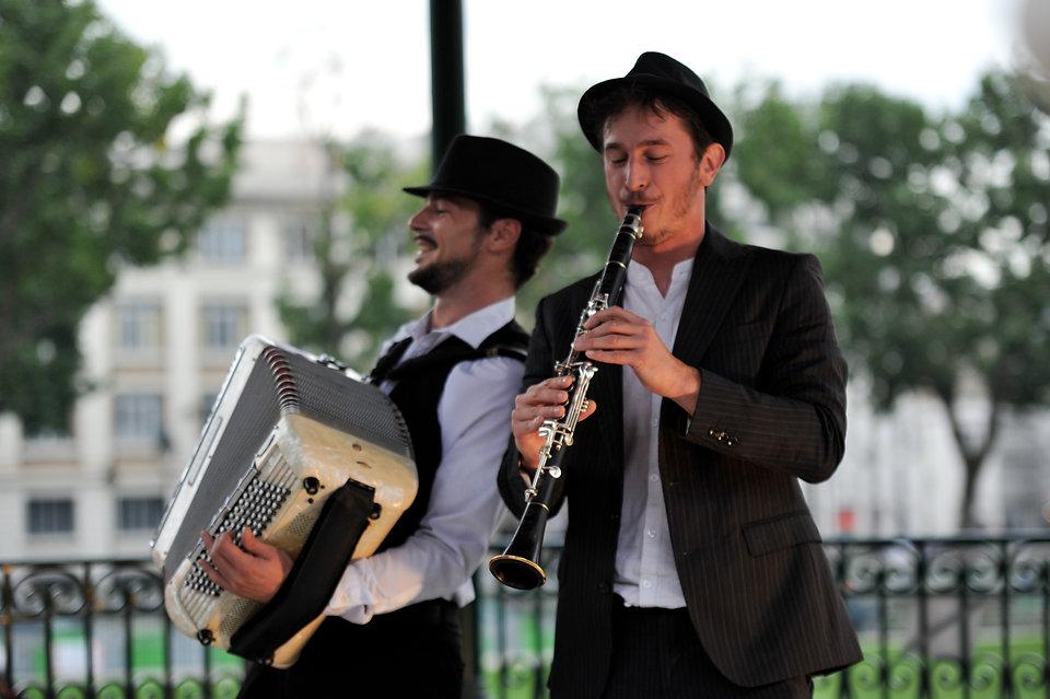 winner team, duo, accordeon, clarinette, loic audureau, florent mery, animation, klezmer, jazz