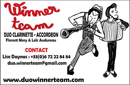 winner team, duo, accordeon, clarinette, audureau, mery