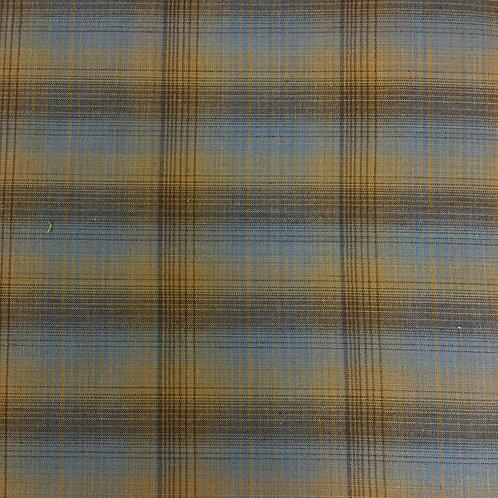Tela Japonesa Cuadros Azules-Amarillos
