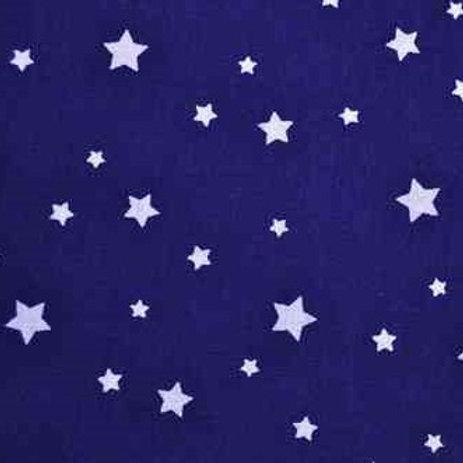 P0405 Estrellas Blancas, Fondo Azul Marino