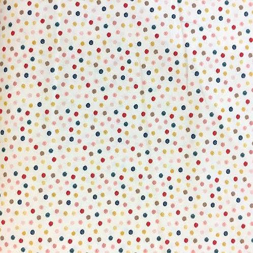 Tela puntitos de colores