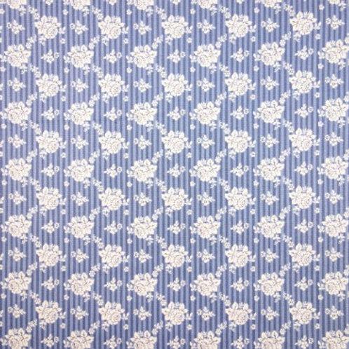U 0079 Fondo Azul Flores Blancas