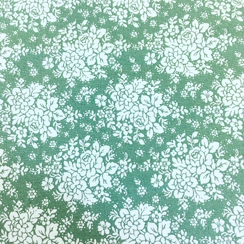U 0089 Fondo Verde - Florecillas Variadas