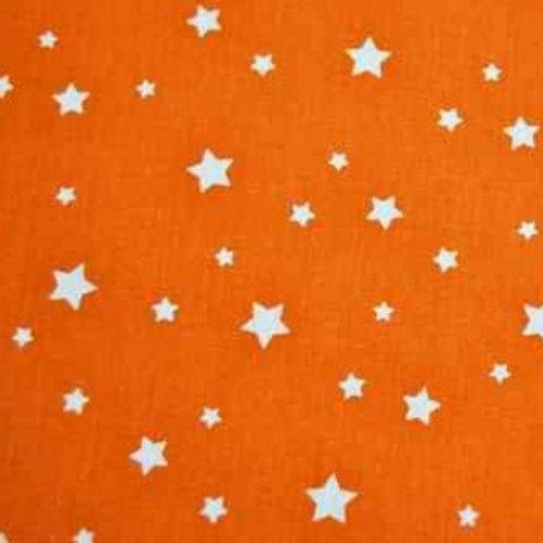 P0401 Estrellas Blancas, Fondo Naranja