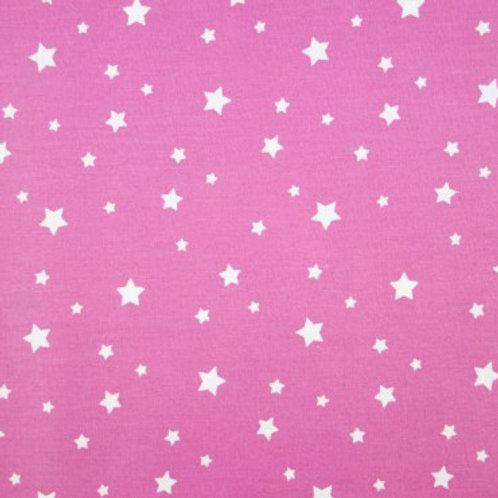 P0404 Estrellas Blancas, Fondo Rosa