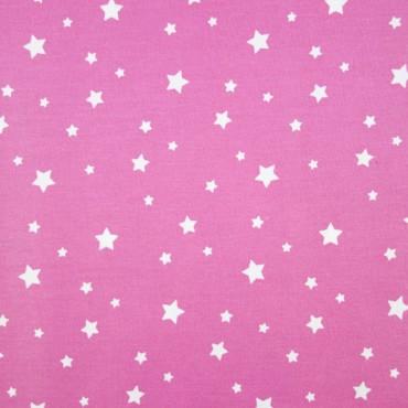 P0404 Estrellas Blancas, Fondo Rosa | telasytentaciones