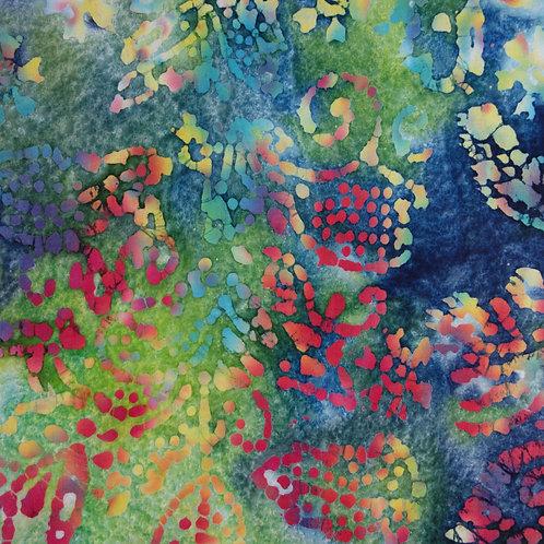WB 0016 Batik Azules, Rojos y Verdes