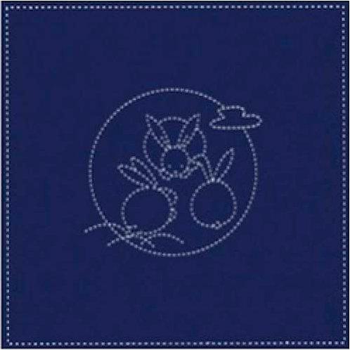 U 0005 Fats Quartes, Sashiko Azul