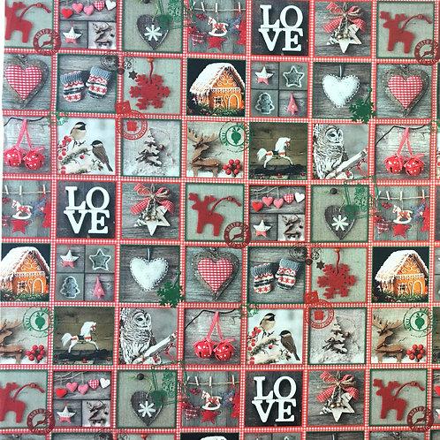 WD 0024 Telas de Navidad