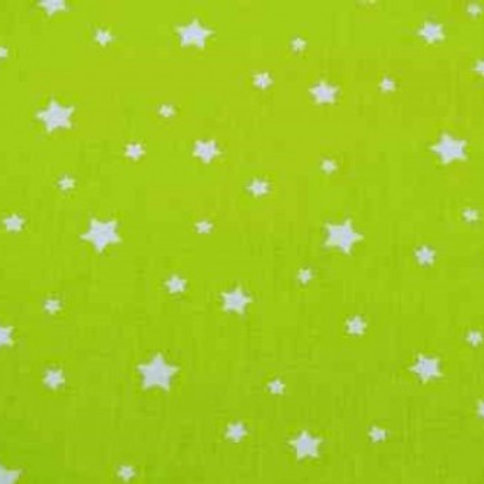 P0406 Estrellas Blancas, Fondo Verde