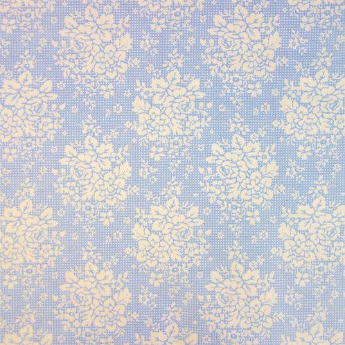 U 0084 Fondo Azul Pastel Flores Blancas, 18/m