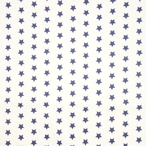 Telas con el Fondo Blanco y Estrellas Color Marino