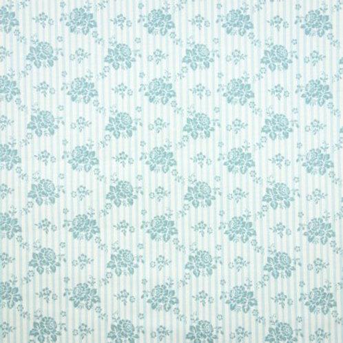 U 0083 Fondo Blanco Flores Verde Esmeralda