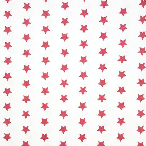 Telas con el Fondo Blanco y Estrellas Rojas