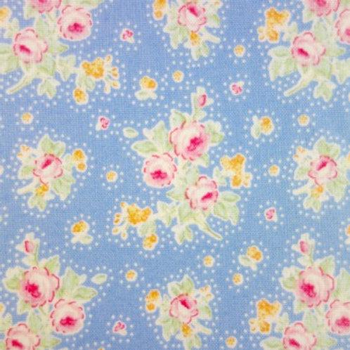 UA 0043 Fondo Azulado, Estampado florecillas