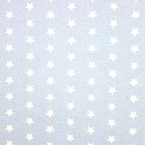 Telas con el Fondo Celeste y Estrellas Blancas