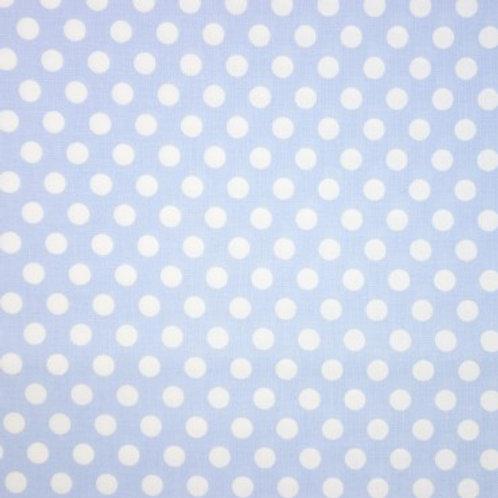 P0222 Fondo Azul Cielo Puntitos Medianos Blancos