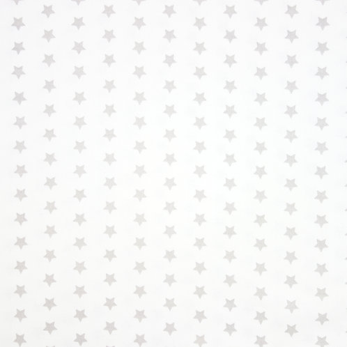 Telas con Fondo Blanco y Estrellas Grises
