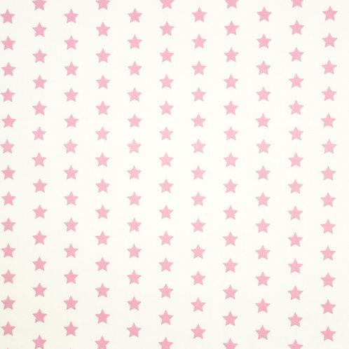 Telas con el Fondo Blanco y Estrellas Rosas