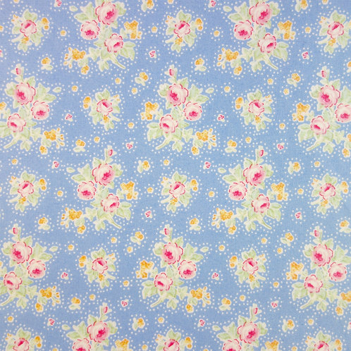 U 0086 Fondo Azul, Flores de Colores, 18/m
