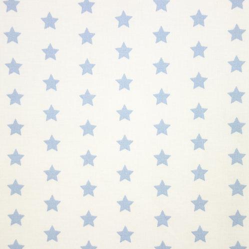 Telas con el Fondo Blanco y Estrellas Color Celeste