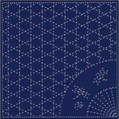 U 0004 Fats Quartes, Sashiko Azul