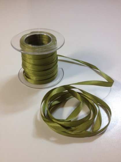 Cinta de Seda Verde Clorofila