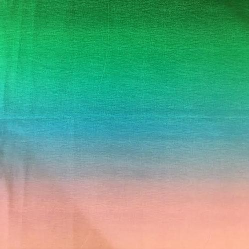 Tela Rosa - Azul - Verde en Degradé