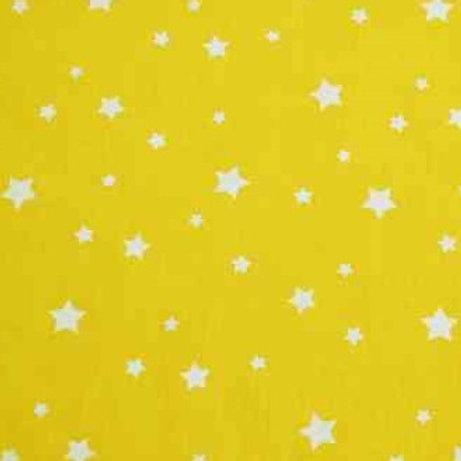 P0407 Estrellas Blancas, Fondo Amarillo