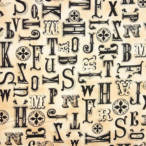 Y 002 Tela Vintage Letras