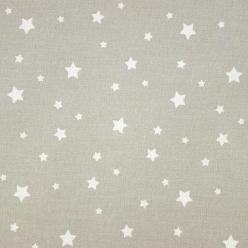 P0408 Estrellas Blancas, Fondo Beige