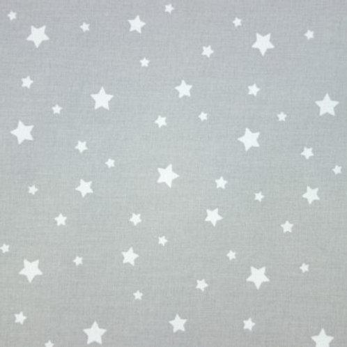 P0400 Estrellas Blancas, Fondo Gris