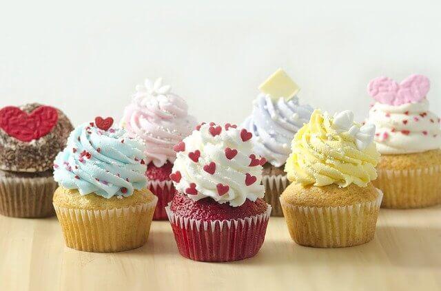 Différents types de cupcakes