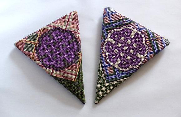 Celtic Knotwork and Tartan Scissor Case