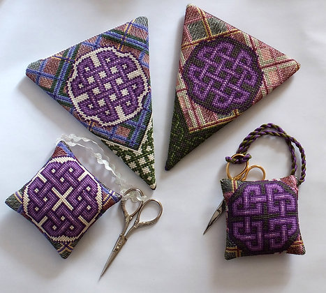 Bundle: Celtic Knotwork and Tartan Scissor Case and Keeper