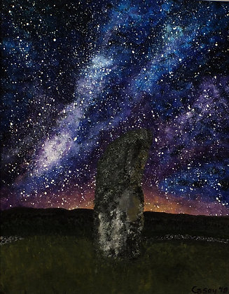 Drumtroddan Standing Stone and Galaxy