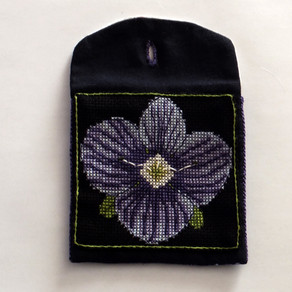 How To: Speedwell or Cat's Een Stitch into a Coin Purse