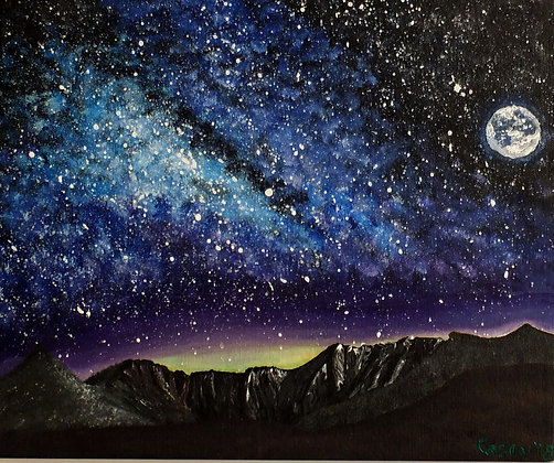 Lochnagar Milky Way and Moon