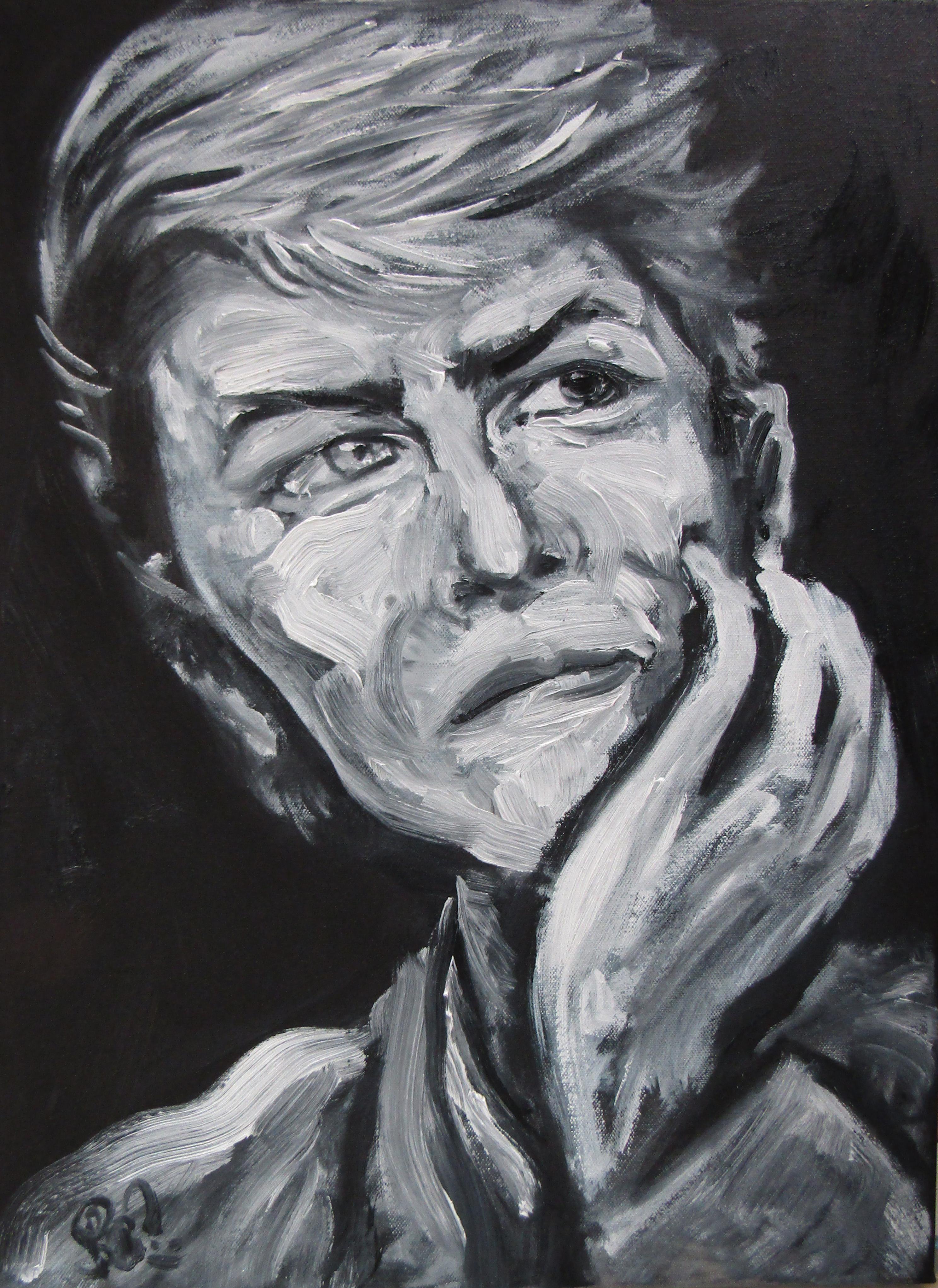 RIP David Bowie Oil Paint