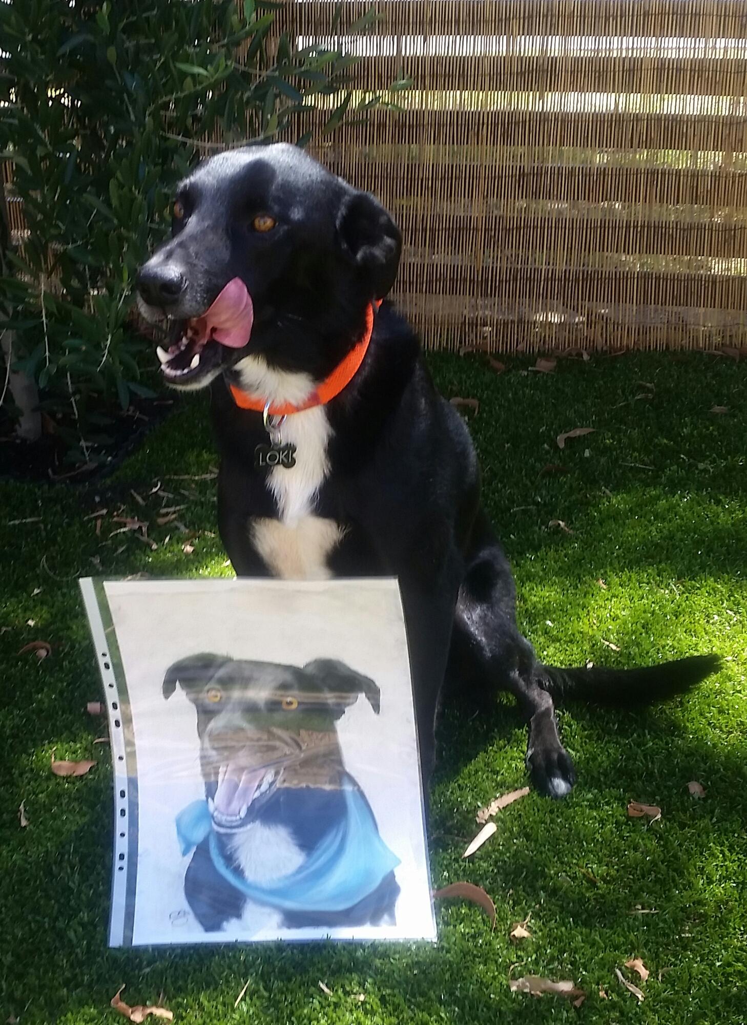 Loki with portrait