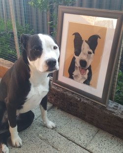 Brady with the portrait