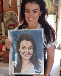 The Lovely Emma with her portrait