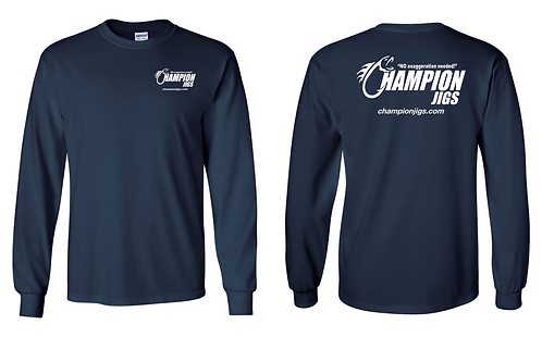 Champion Jigs Long Sleeved T-Shirt in Navy Color