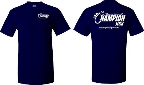 Champion Jigs T-Shirt Navy Blue Color