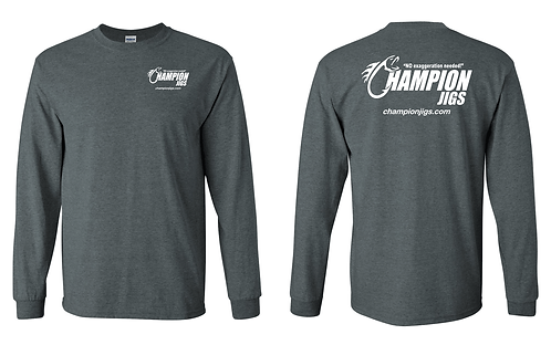 Champion Jigs Long Sleeved T-Shirt in Dark Heather Color
